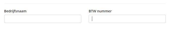 btw-nummer invullen tijdens bestellen