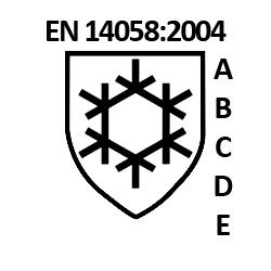 EN14058-2004 koudebescherming tot -5 graden Celsius