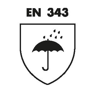 EN 343 : Bescherming tegen regen