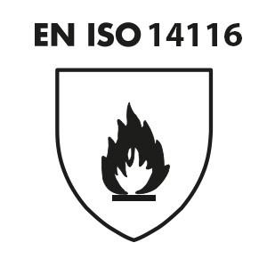 EN ISO 14116: Beschermende kleding met beperkte vlamverspreiding